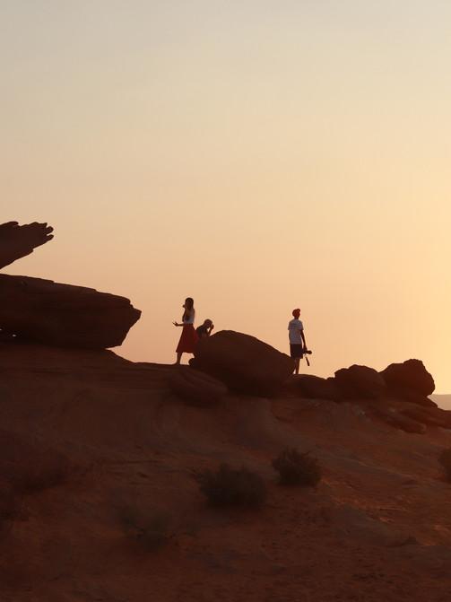 Rocks in Sunset
