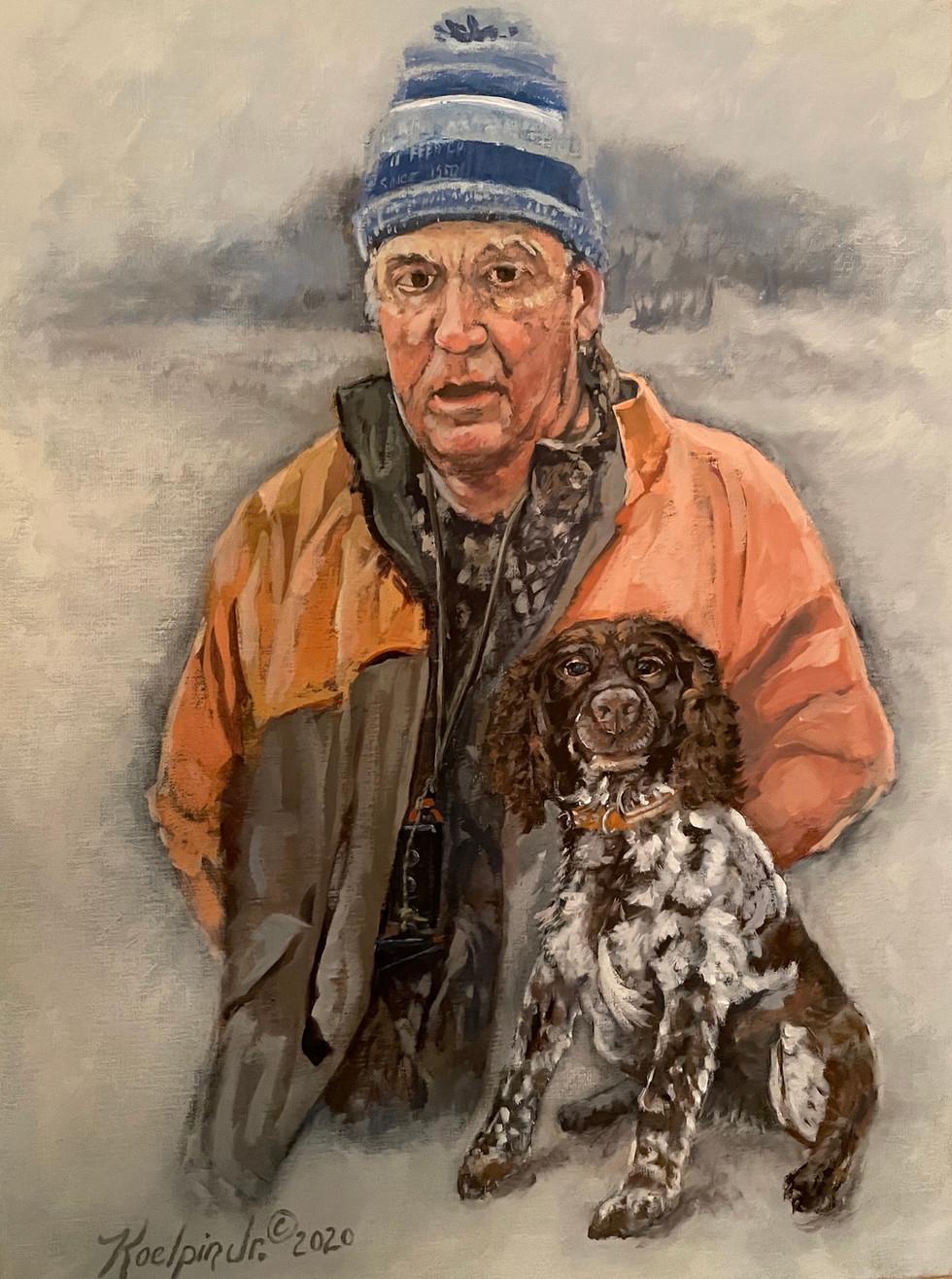 Portrait: Man and Dog