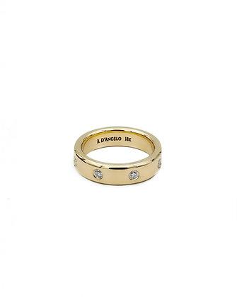 8 Diamond Pinky Ring in 18k