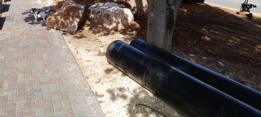 צינור ביוב לעריית רחובות