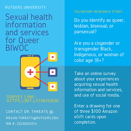 study flyer sexual health information technology and services