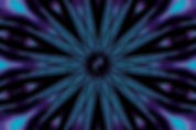 Digital image of an a starburst in aqua and purple with a central spiral galaxy,digital image by Jodi DiLiberto