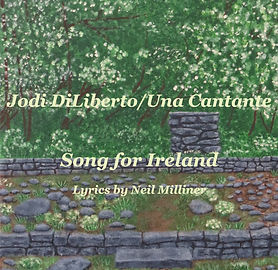 Song for Ireland by Jodi DiLiberto and Neil Milliner, Celtic song, vocal music, harp music, mountain dulcimer music
