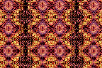 digital art in mosaic pattern, mosaic image in pink purple yellow orange and black, abstract image, abstract digital art, digital art by Jodi DiLiberto