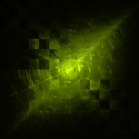 Fractal image of green diagonal chequered pattern. Fractal art by Jodi DiLiberto.