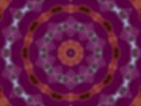 Digital image of a mandala resembling orange ribbons, digital image by Jodi DiLiberto