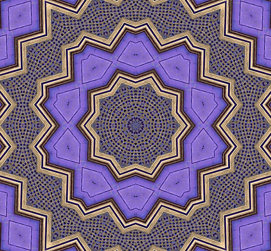 image of purple kaleidoscope pattern with golden frames,image by Jodi DiLiberto