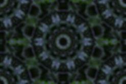 Digital art of green mandala, image of forest green mandala, circular image,digital art in breen and blue, image with green and blue,digital art by Jodi DiLiberto