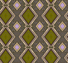 image of olive green diamond pattern with golden frames,image by Jodi DiLiberto