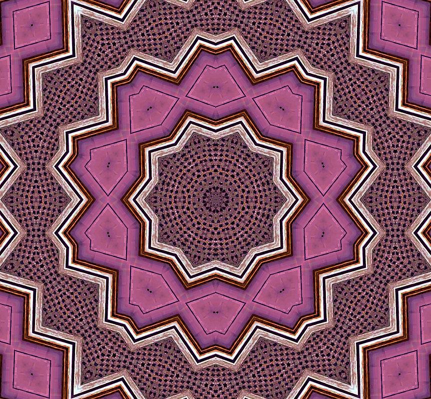 image of magenta kaleidoscope pattern, image by jodi diliberto