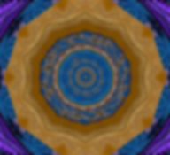 Bohemian Kaleidoscope, digital image of a blue purple and gold kaleidoscope,digital art by Jodi DiLiberto