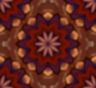 image of a layered flower mandala in russet and purple, digital image by Jodi DiLiberto