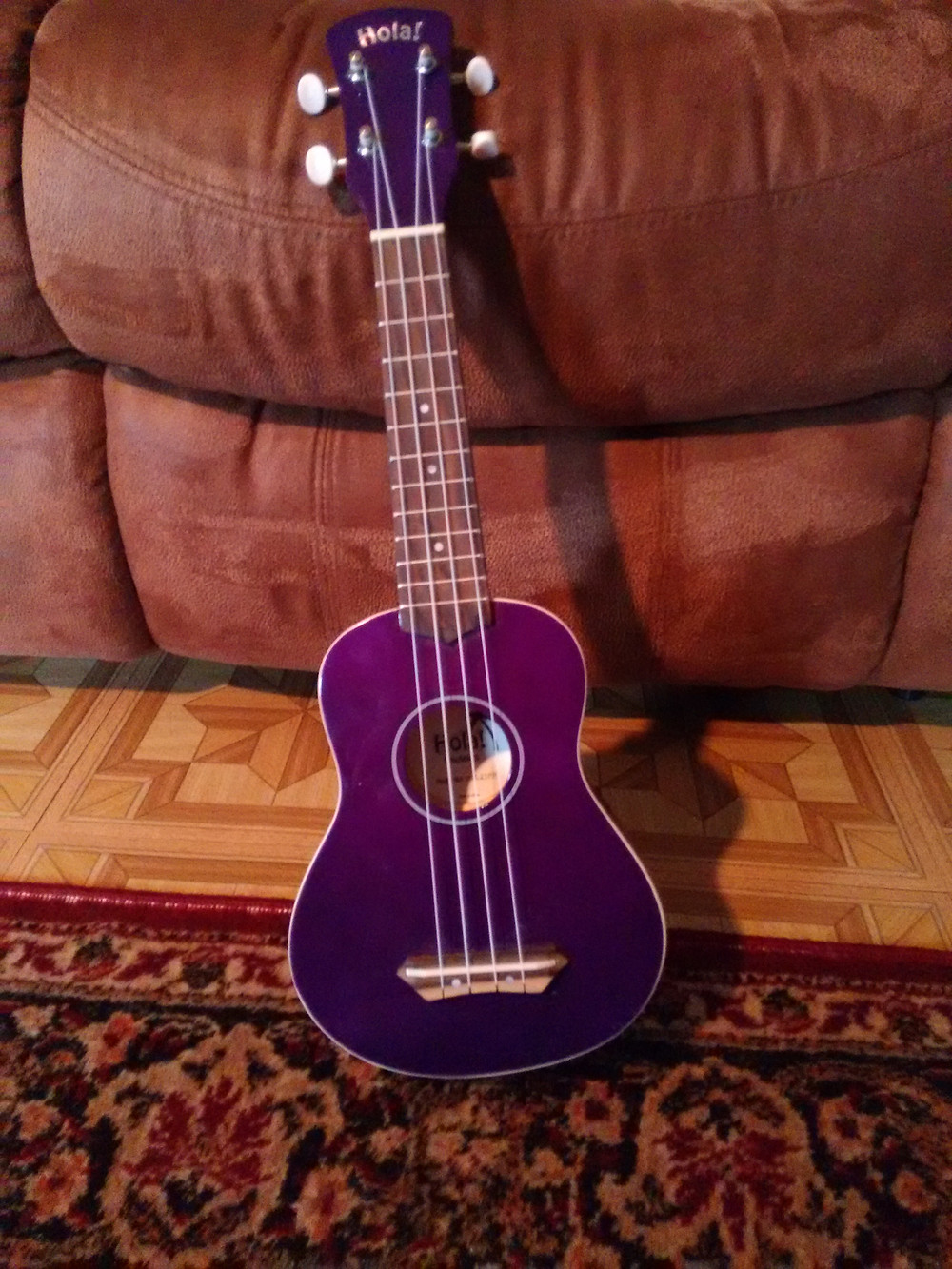 Learning a new instrument is always such fun, and this purple ukulele I borrowed from the studio seems perfect! This is one of the perks of being a music teacher!