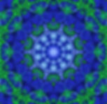 digital art in blue and green, blue and green image, digital blue and green mandala,circular pattern image, abstract digital image of ships, digital art by Jodi DiLiberto