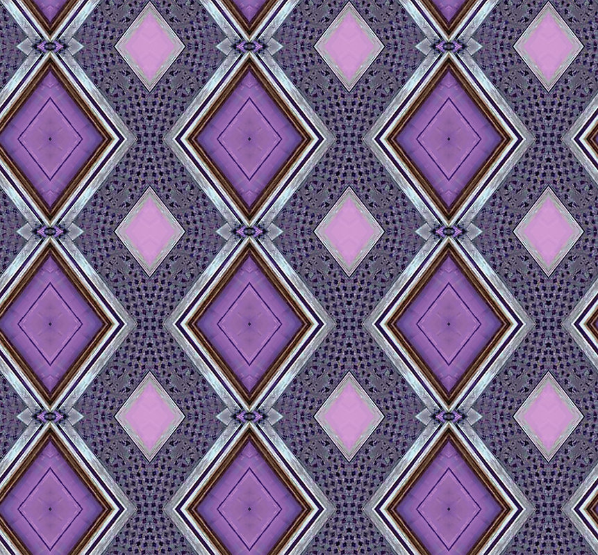 image of purple diamonds with silver frames,image by Jodi DiLiberto