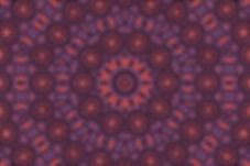 image of a purple mandala made of mini suns in orange arranged in concentric circles. Image by Jodi DiLiberto