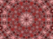 Image of a red mandala, circular image, digital art of a red mandala, digital art in red brown and black, digital art by Jodi DiLiberto