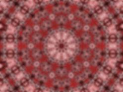 Image of a red mandala, circular image, digital art of a red mandala, digital art in red brown and black, digital art by Jodi DiLiberto