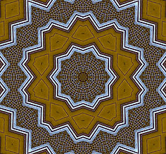 image of golden kaleidoscope with distressed blue edges, image by Jodi DiLiberto