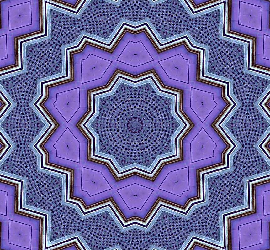 image of purple kaleidoscope with distressed blue frames, image by Jodi DiLiberto