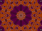 Digital image in purple of abstract string instruments encircling a central lotus. Digital image by Jodi DiLiberto