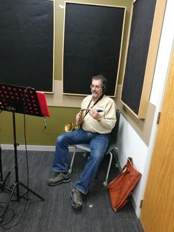 Jim in the studio