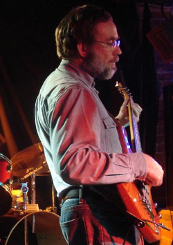 On stage at the Blues Bar