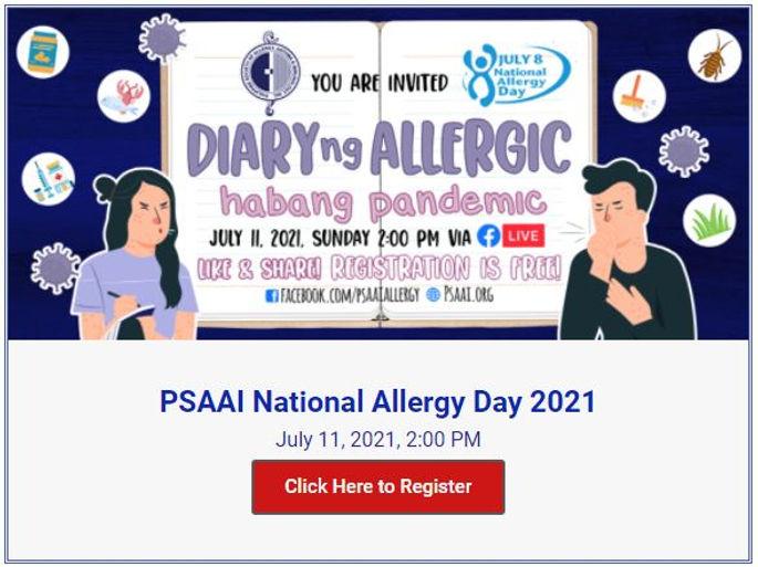 PSAAI National Allergy Day 2021.JPG