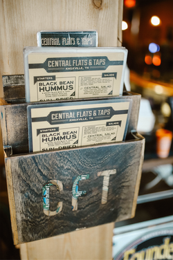 Central Flats and Taps Menu
