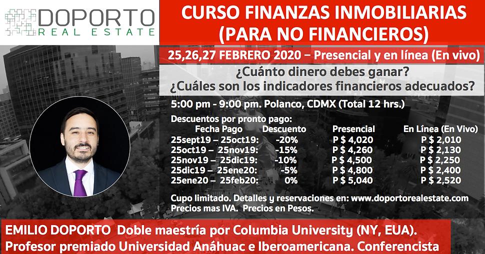 Curso Finanzas - Flyer - 25a27feb2020 -