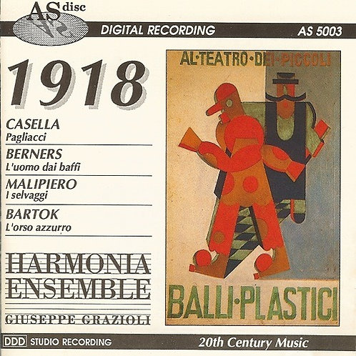 1918: CASELLA, BERNERS, MALIPIERO & BARTOK