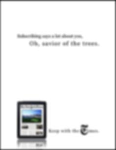 megan fountain, meganfountain.com, New York Times, digital, ipad, tree, hugger, savior, subscribe