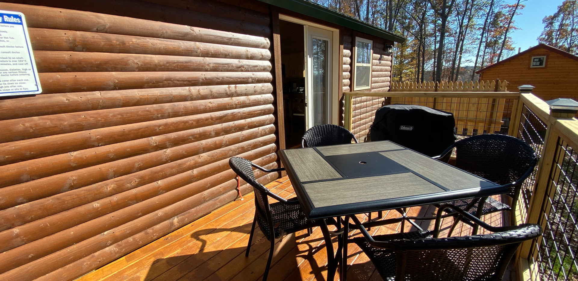 Pine Wood Back Deck