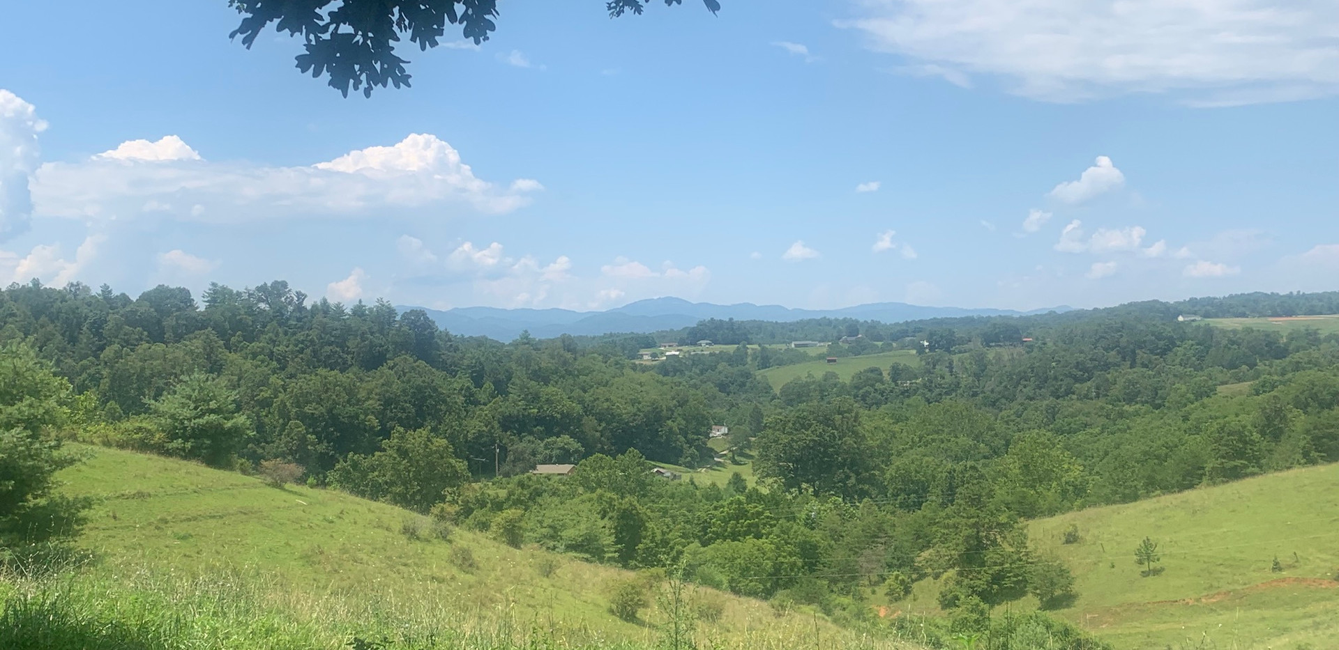 Mountain Scenic View by the Swing
