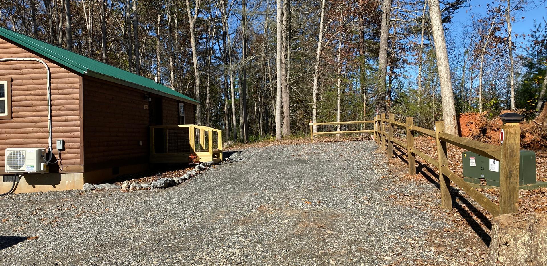 Pine Wood Parking Straight ahead