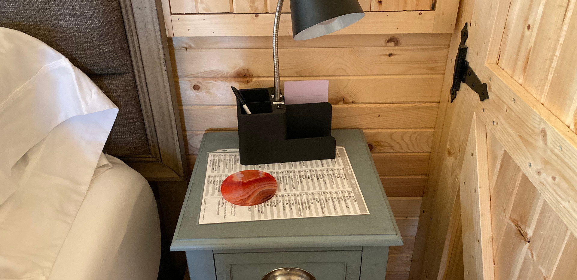 Bedside Tables/Lamps W/USB Ports