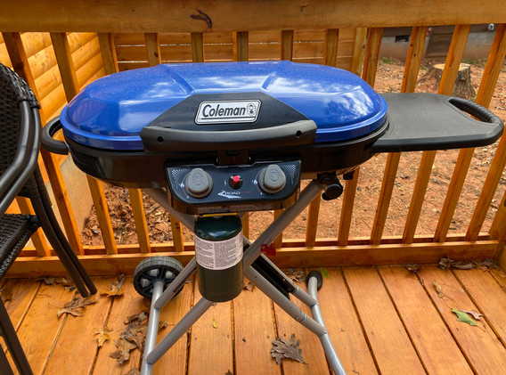 Gas BBQ Grill on Back Deck