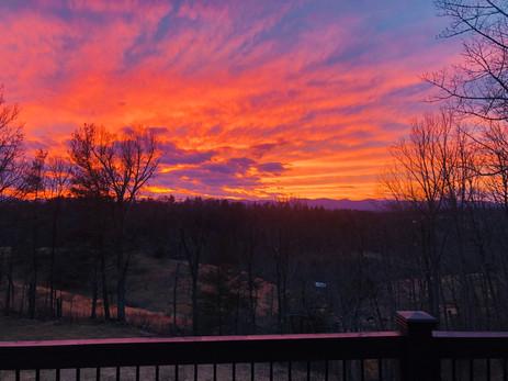 Sunset from Mountain Overlook