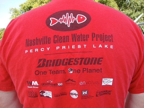 Percy Priest Lake logo T-Shirt — Red