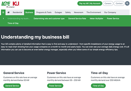 LG&E's Page Explaining Your Bill