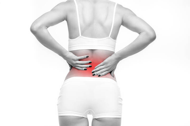 lumbar or back with backache