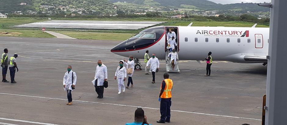 Cuban health professionals arrived today to support St. Kitts and Nevis