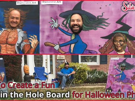 How To Create a Fun Head in the Hole Board for Halloween Photos