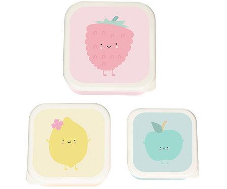 Set 3 Snack Box Raspberry