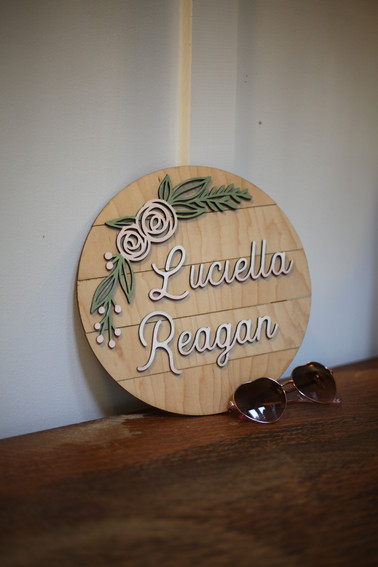 Floral Name Sign