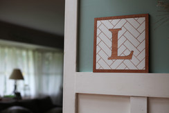 Herringbone Letters