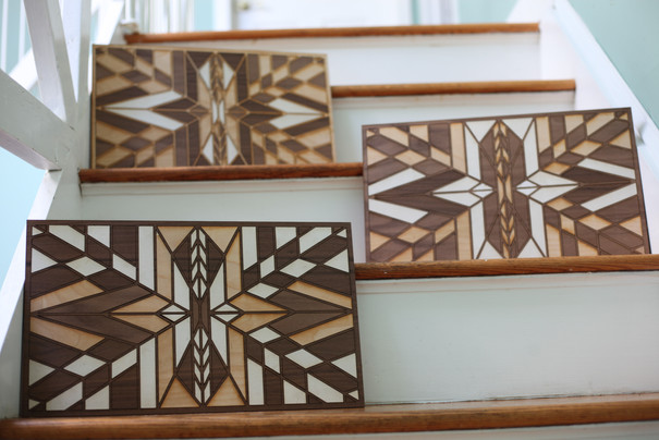 Wooden Quilt Triptych
