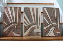 Catch a Wave Triptych
