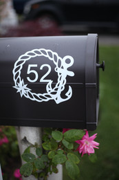 Nautical Mailbox Number