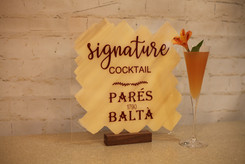 Signature Cocktail Acrylic Sign